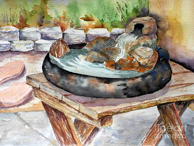 Painting - Rock Fountain by Vicki  Housel