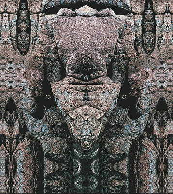 Digital Art - Rock Gods Elephant Stonemen Of Ogunquit by Nancy Griswold