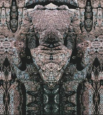Digital Art - Rock Gods Elephant Stonemen Of Ogunquit by Nancy Griswold