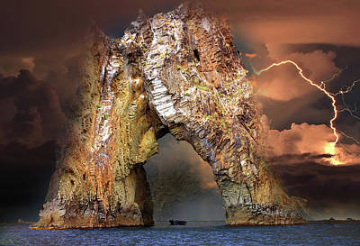 Rock Golden Gate Of Karadag During A Thunderstorm Original by Yuri Hope