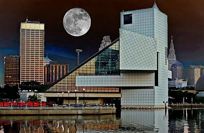 Photograph - Rock Hall Moonlight by Suzanne Stout
