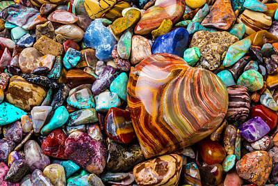 Photograph - Rock Heart by Garry Gay