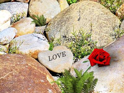 Sk Stones Photograph - Rock Heart - Love by Sabrina K Wheeler