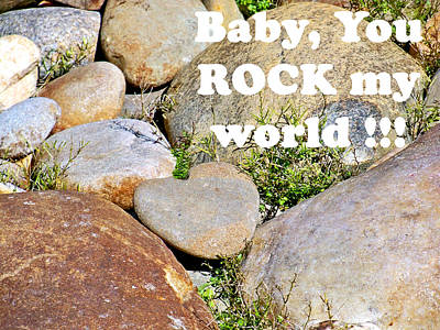 Sk Stones Photograph - Rock Heart - Rock My World by Sabrina K Wheeler