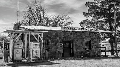 Photograph - Rock House Grocery And Gas Station-img_978517 by Rosemary Woods-Desert Rose Images