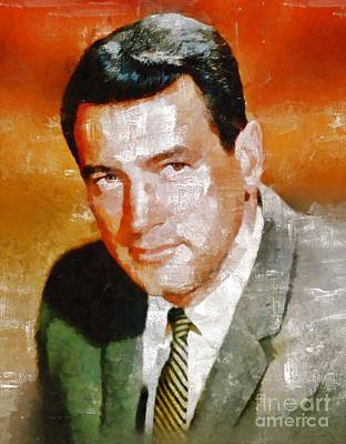 Musicians Royalty-Free and Rights-Managed Images - Rock Hudson by Mary Bassett by Mary Bassett