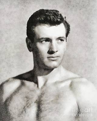 Musicians Royalty Free Images - Rock Hudson, Vintage Actor Royalty-Free Image by John Springfield