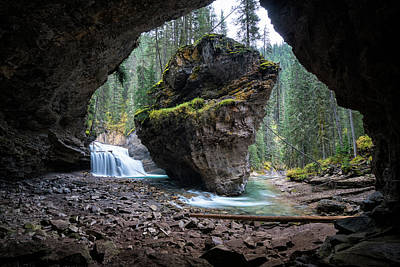 Photograph - Rock In Johnston Canyon by James Udall
