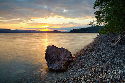 Photograph - Rock In The Sunset by Idaho Scenic Images Linda Lantzy