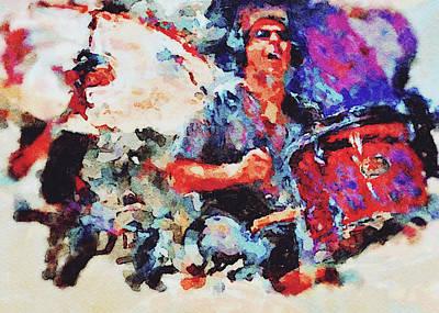 Digital Art - Rock In Watercolors by Yury Malkov
