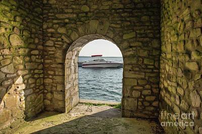 Nikki Vig Royalty-Free and Rights-Managed Images - Rock Island Boathouse  by Nikki Vig