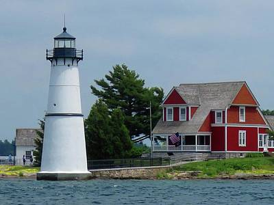 Photograph - Rock Island Lighthouse July by Dennis McCarthy