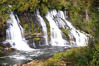 Photograph - Rock Island State Park Falls Tennessee by Douglas Barnett