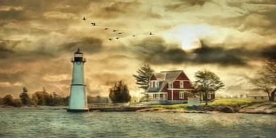 Rock Island Sunrise Art Print