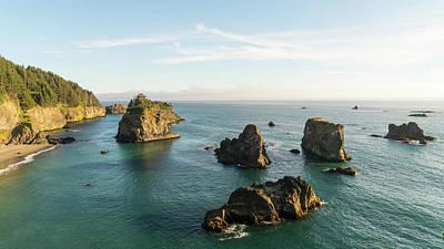 Photograph - Rock Islands Oregon Coast by Lawrence S Richardson Jr