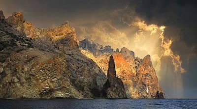 Rock Ivan The Robber In Robber Bay, Crimea Original