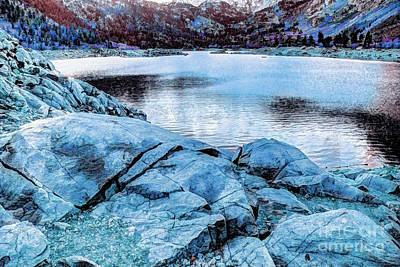 Digital Art - Rock Lake by Joe Lach