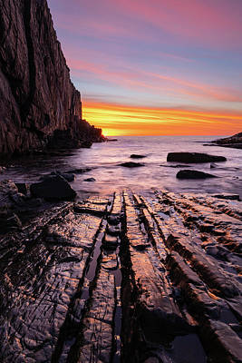 Photograph - Rock Lines by Michael Blanchette