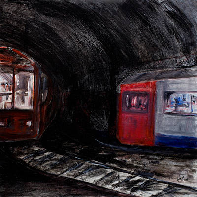Rock Me London Underground Art Print by Emma Kinani