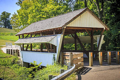 Photograph - Rock Mill Covered Bridge by Jack R Perry