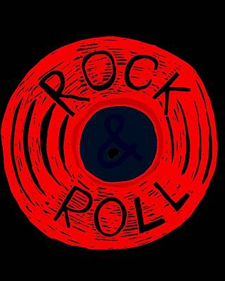 Digital Art - Rock 'n Roll by J H