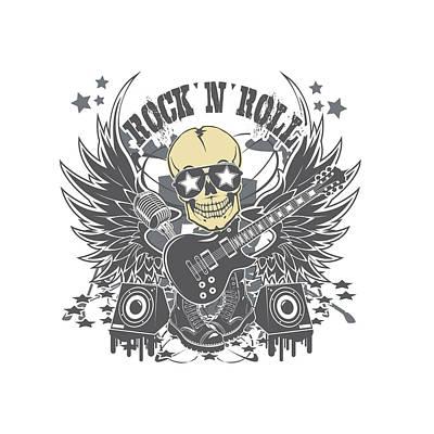 Rock N Roll Art Print by Parrish Lee