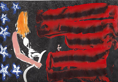 Stars And Bars Mixed Media - Rock N Roll Patriot by Courtney Stone-moore