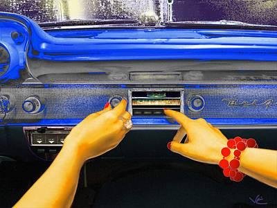 Digital Art - Rock N Roll Radio by Victor Shelley