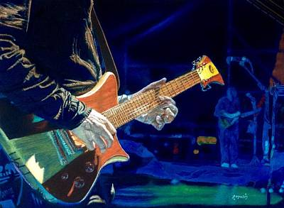 Painting - Rock N Roll....dim The Lights by Harvey Rogosin