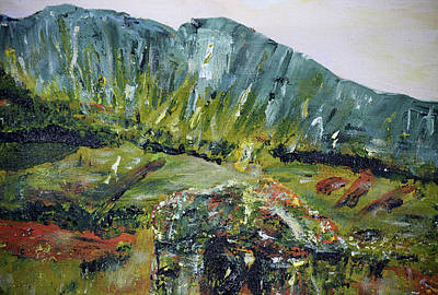 Painting - Rock Of Ages / Gleniff Horseshoe / Sligo Scenes by Dawn Richerson