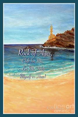 An Island Painting - Rock Of Ages Let Me Hide Myself In Thee by Kimberlee Baxter