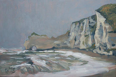 Painting - Rock Of Amont Etretat After The Rain by Nop Briex