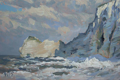 Painting - Rock Of Amont Etretat by Nop Briex