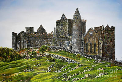 Cathedral Rock Painting - Rock Of Cashel Ireland by Avril Brand