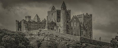 Photograph - Rock Of Cashel Monochrome by Teresa Wilson