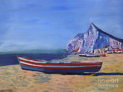 Donna Painting - Rock Of Gibraltar by Donna Walsh