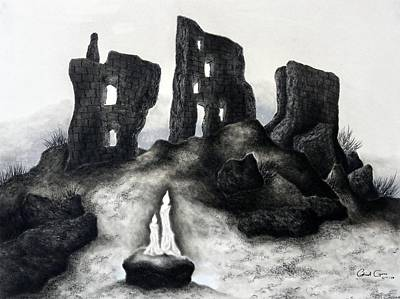Drawing - Rock Of The Candle by Gabriel Cajina