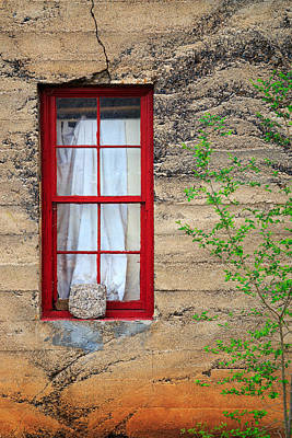 Photograph - Rock On A Red Window by James Eddy