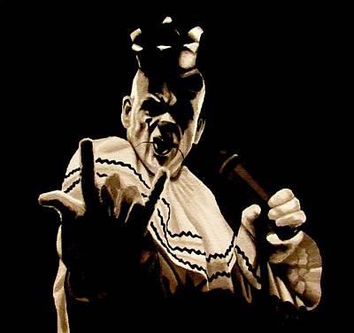 Sad Clown Painting - Rock On by SarahjewelAZ SarahjewelAZ