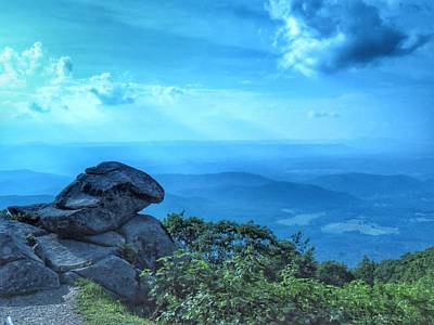 Through The Viewfinder - Rock over the blue ridge by Rrrose Pix
