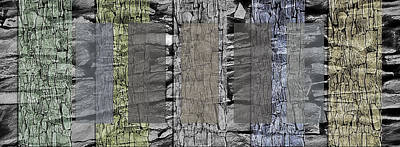 Built Structure Mixed Media - Rock Panels - Abstract by Steve Ohlsen