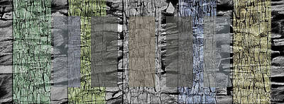 Built Structure Mixed Media - Rock Panels - Signed Limited Edition by Steve Ohlsen