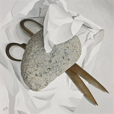 Painting - Rock Paper Scissors by Garry McMichael