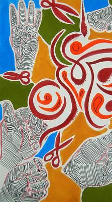 Painting - Rock Paper Scissors by Kruti Shah