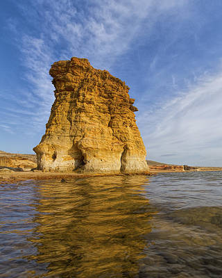 Photograph - Rock Pillar At Wilson Lake by Rob Graham