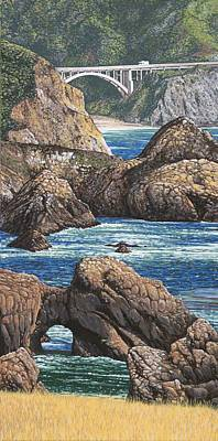 Rock Point Bridge Big Sur Original by Andrew Palmer