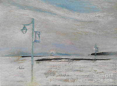 Painting - Rock Point Past The Lighthouse Burlington Vermont by Felipe Adan Lerma