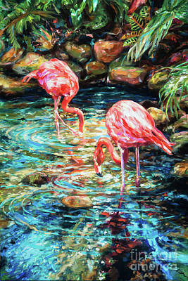 Painting - Rock Pond by Linda Olsen