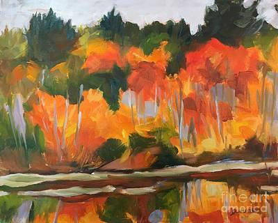 Painting - Rock Pond Swamp Maples by Lynne Schulte