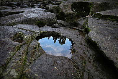 Photograph - Rock Pool Reflection by Les Cunliffe